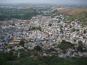 Dungarpur - Aerial view of Dungarpur