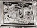 Duomo di genova, cappella di s. giovanni battista, prospetto esterno di domenico ed elia gagini, battesimo di cristo.JPG