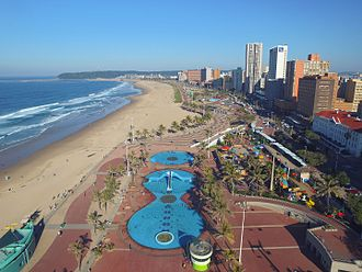 "Durban is well known for its beachfront and ""Golden Mile"" promenade. Durban beach front (1 of 1).jpg"