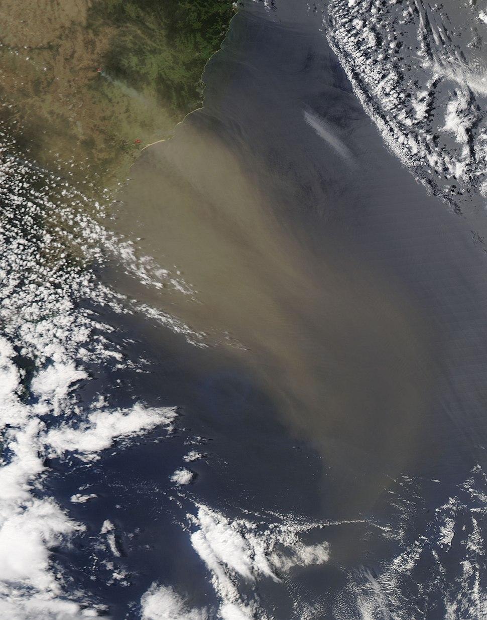 Dust over Southeast Australia
