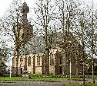 Dwingeloo Town in Drenthe, Netherlands