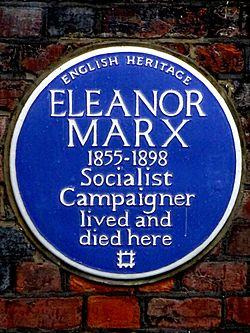 Photo of Eleanor Marx blue plaque