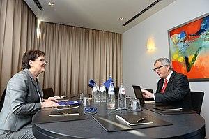 Ewa Kopacz - Ewa Kopacz with Jean-Claude Juncker