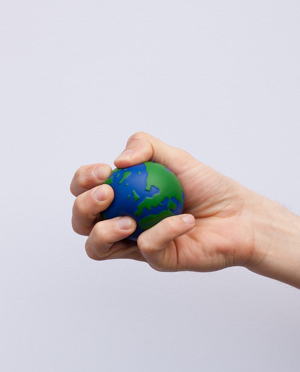 Earth globe stress ball