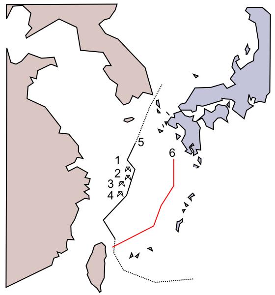 East China Sea natural gas field problem (China - Japan) NT
