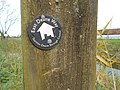 East Deane Way footpath sign, Burrowbridge.jpg