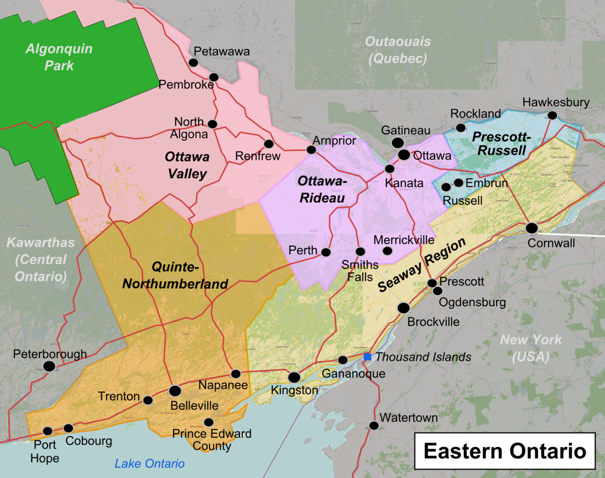 Eastern Ontario – Travel guide at Wikivoyage