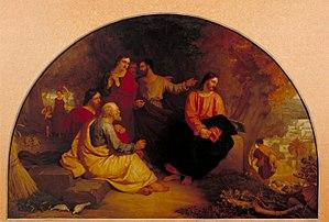 Charles Lock Eastlake - Christ Lamenting over Jerusalem, one of Eastlake's most popular biblical paintings.