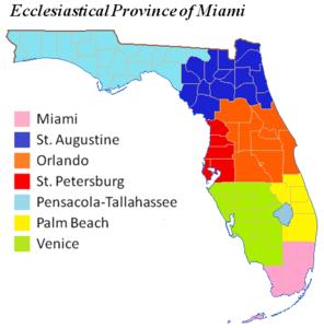 Karte Florida Miami.Erzbistum Miami Wikipedia