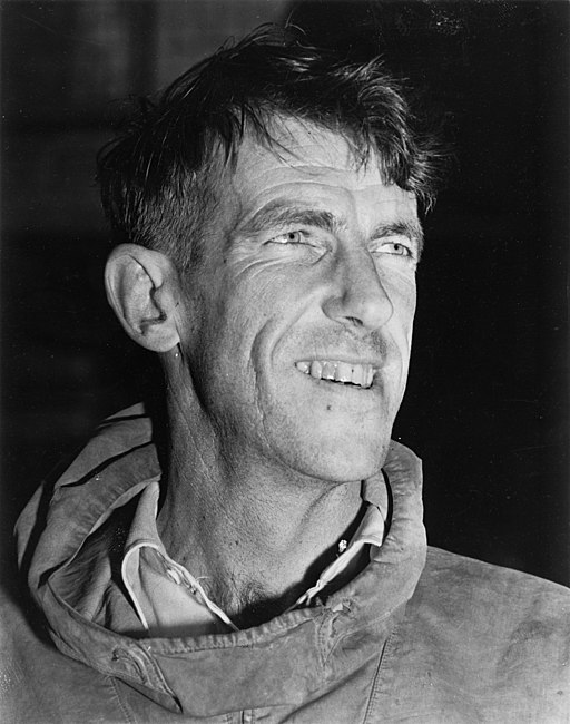 Edmund Hillary, c. 1953, autograph removed