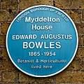Edward Augustus Bowles plaque at Myddelton House, Enfield, London.jpg