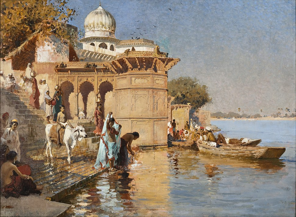 Edwin Lord Weeks - Along the Ghats, Mathura