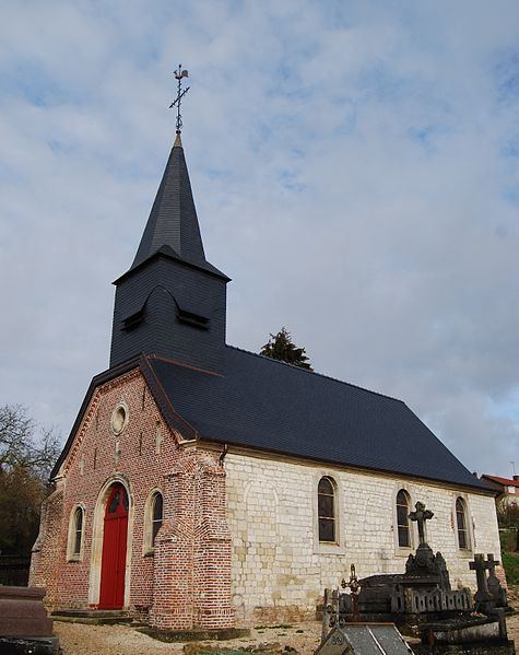 Church Saint-Martin from Thiernu (Aisne, Picardie, France)