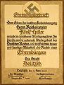 Ehrenbürgerbrief Adolf Hitler in Delitzsch (1933).jpg