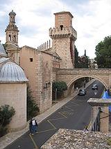 El Pueblo español en Palma de Mallorca (Islas Baleares).
