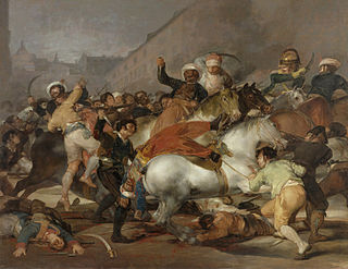 <i>The Second of May 1808</i> 1814 painting by Francisco de Goya depicting rebellion against the French occupation of Spain