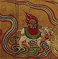 Elephant with flaming jewel detail, 10th-century painting on silk from Dunhuang (cropped).jpg