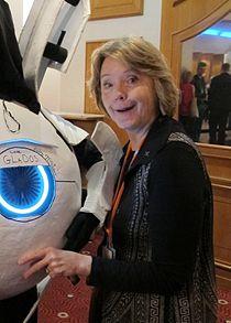 Ellen McLain signing Atlas at Kitacon 2012.jpg