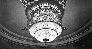 Empire Theatre (42nd Street) - Ornate ceiling light
