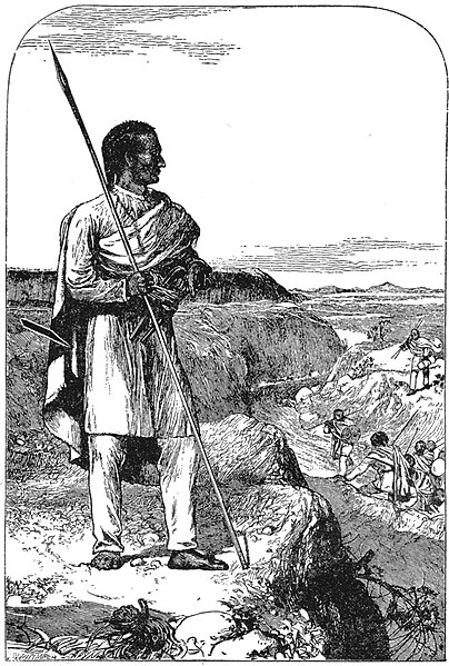 L'imperatore Teodoro il Grande (da H. Rassam, Narrative of British Mission to Theodore, 1869)