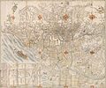 Enlarged plan of Edo, revised in Third Month, Year of the Sheep, and illustrated (14066153104).jpg