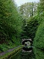 Entering Cowley Tunnel near Gnosall, Staffordshire - geograph.org.uk - 1387781.jpg