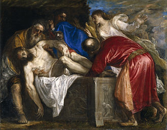Nicodemus - Entombment, by Titian