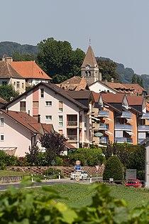 Entrée de Bursins (Suisse) par la route de l'Etraz.jpg