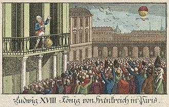 Paris during the Bourbon Restoration - King Louis XVIII returns to Paris (3 May 1814)