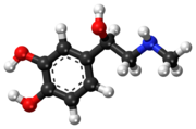 Ball-and-stick model of epinephrine (adrenaline) molecule 在我家