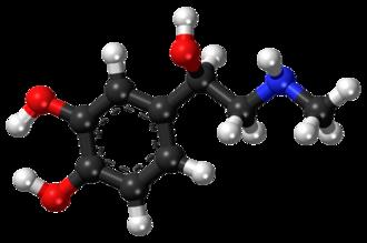 Epinephrine - Image: Epinephrine ball and stick model