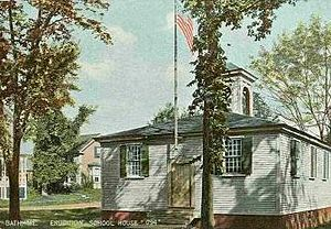 Bath, Maine - Erudition Schoolhouse (1794) in 1911