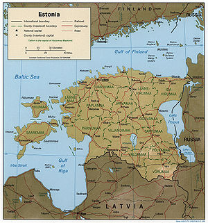 Geography of Estonia - Map of Estonia.