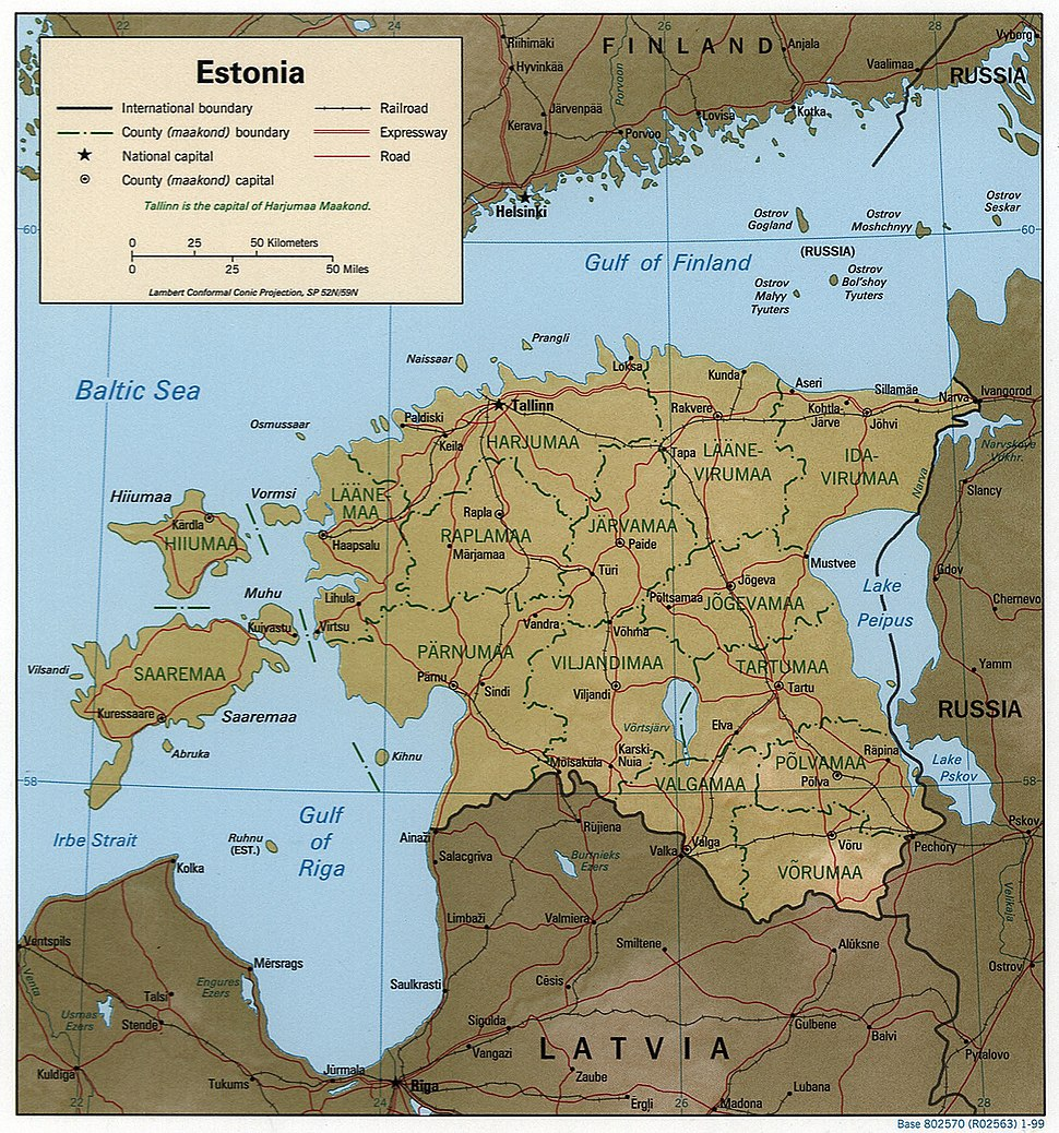 Estonia 1999 CIA map