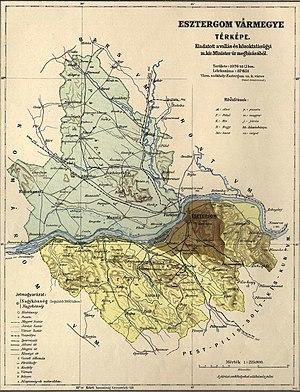 Esztergom County - Image: Esztergom county administrative map