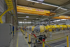 European X-ray free-electron laser - Accelerator modules during construction in 2015