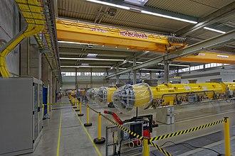 European XFEL - Accelerator modules during construction in 2015