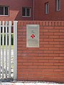 Evangélikus Szeretetház, vörös kereszt, 2018 Békásmegyer.jpg