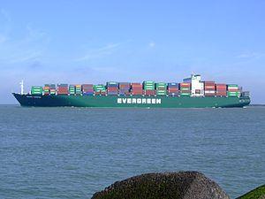 Ever Unific p4, leaving Port of Rotterdam, Holland 08-Apr-2007.jpg