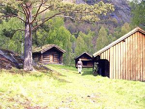 Evje og Hornnes - View of an open-air museum in Evje og Hornnes