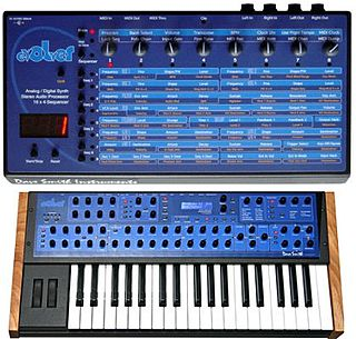 Evolver (synthesizer) analog-digital hybrid synthesizer