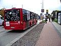 Evropská, dočasná zastávka Nádraží Veleslavín, autobus 206.jpg