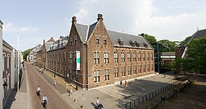 Centraal Museum - The main building at centre; the dick bruna huis is on the left, with the yellow banner