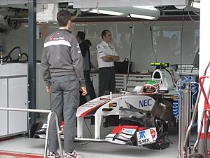 2011 Australian Grand Prix - Sergio Pérez made his Grand Prix début with Sauber.