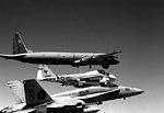 FA-18A Hornet of VFA-151 and KA-6D Intruder of VA-185 escort Soviet Il-38 on 19 September 1989 (6452916).jpeg
