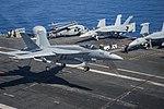 FA-18E of VFA-25 lands on USS Harry S. Truman (CVN-75) in June 2015.JPG