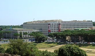 Food and Agriculture Organization - FAO headquarters in Rome.