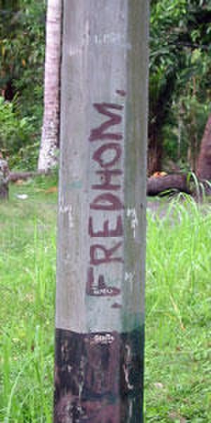 Free Papua Movement - Free Papua Movement graffiti in Sentani, Papua
