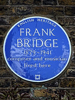 FRANK BRIDGE 1879-1941 Composer and Musician lived here.jpg