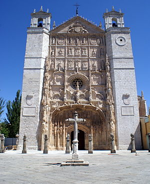 Revolt of the Comuneros - San Pablo Church in Valladolid, seat of a Cortes held in 1518.  Protests emerged when the Flemish adviser Jean de Sauvage was named its president, presaging later troubles.